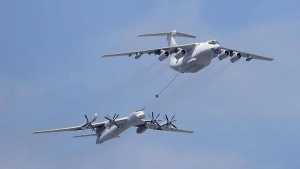 Russian Tupolev T-95 MSG strategic bombers, capable of carrying nuclear weapons under American auspices