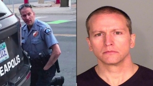 An American police officer, Derek Chauvin, who killed Floyd