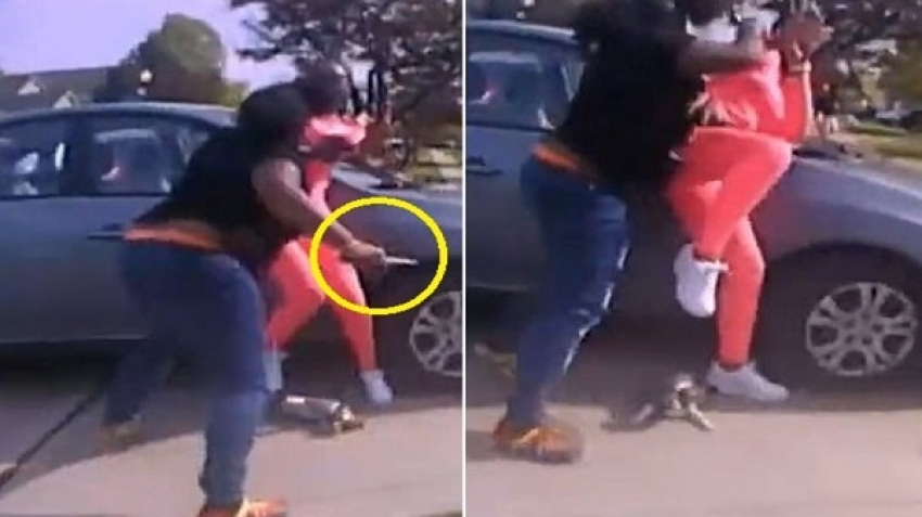 Video, thwarting an attempted murder in Ohio, USA