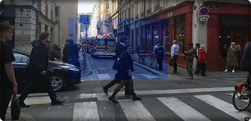 Explosion in the center of Lyon, eastern France