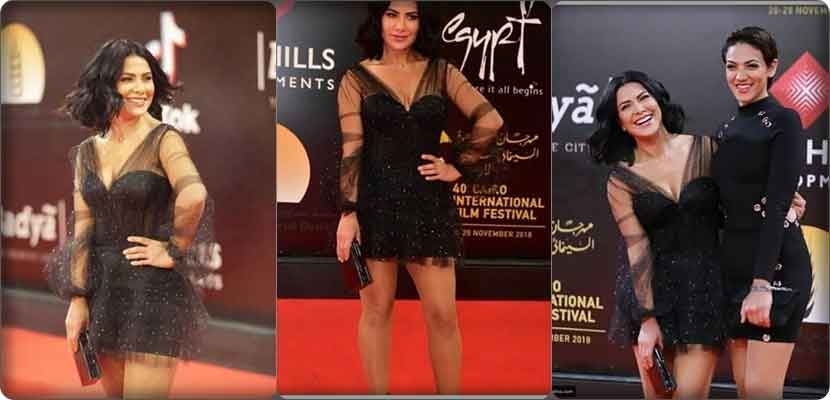 The dress of Saba Mubarak at the Cairo Film Festival is causing a stir