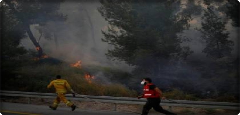 Egypt and the Palestinian Authority help Israel extinguish fires
