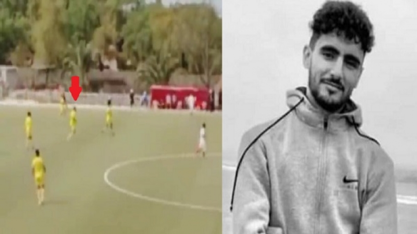The death of Moroccan player Reda Saqi during a football match, video